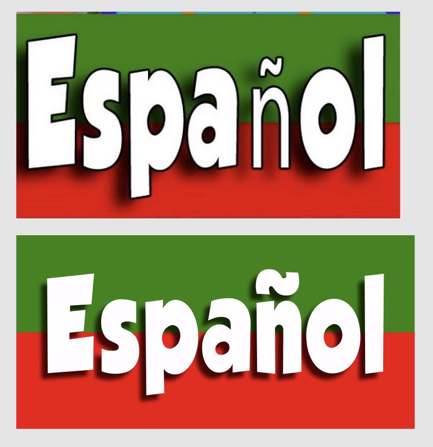 Español sign